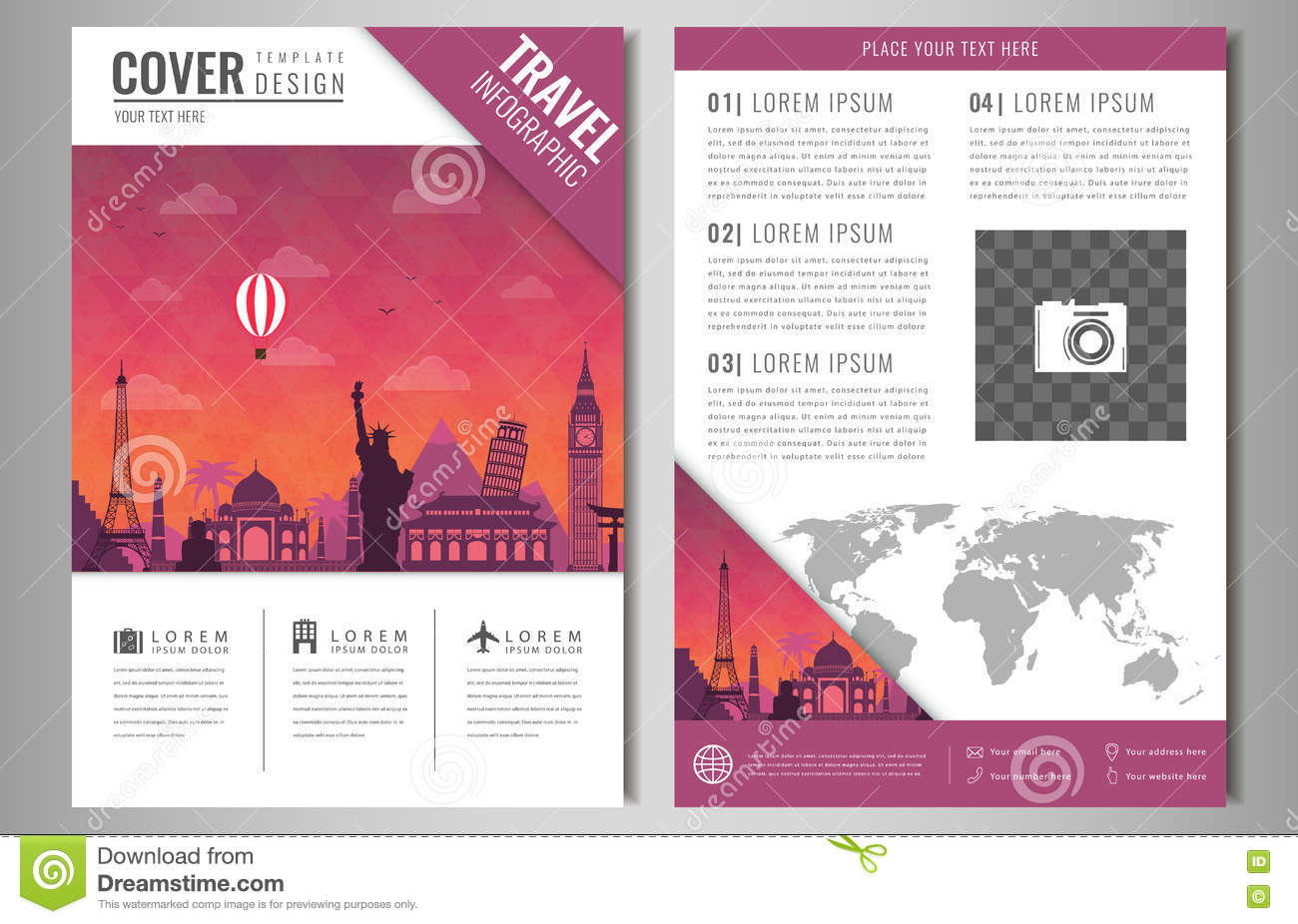 Travel Brochure Design Templates Pasoevolistco - Brochures design templates