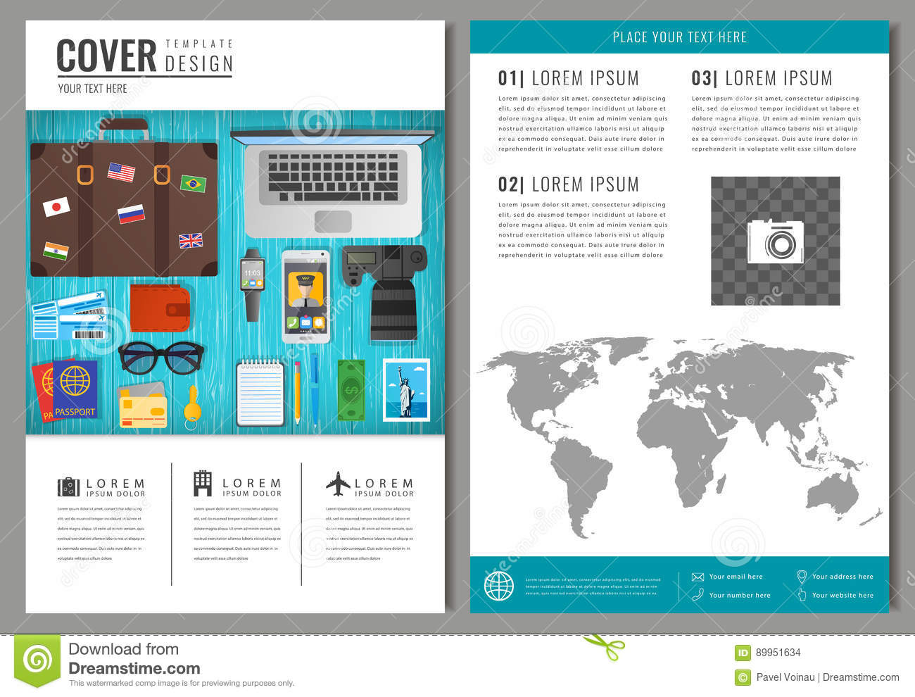 Travel Brochure Design Template For Travel And Tourism Concept – Travel Brochure