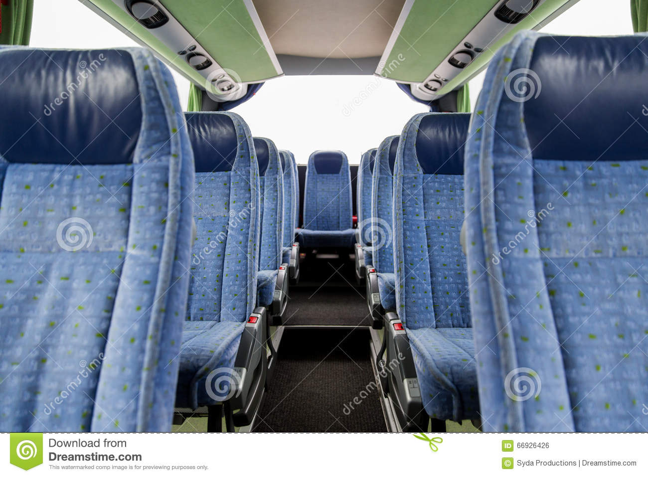 Travel Bus Interior And Seats Stock Photo Image 66926426