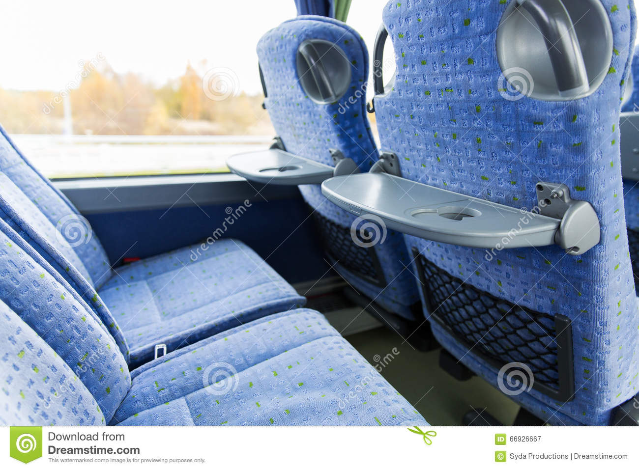 Travel Bus Interior And Seats Stock Photo Image 66926667