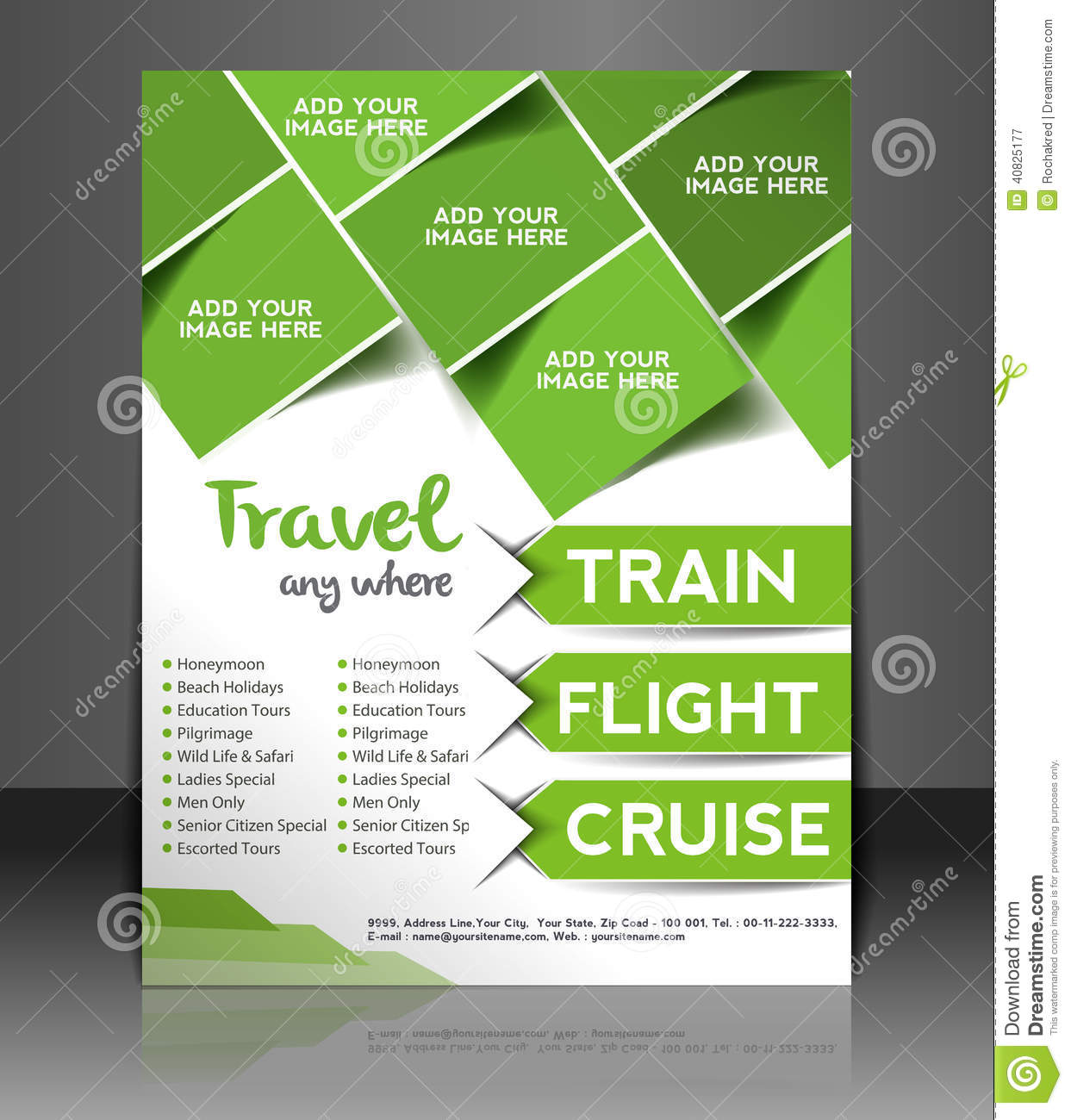 travel center flyer design stock vector illustration of magazine