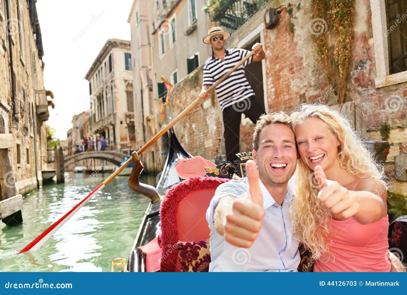 Download Travel Concept - Happy Couple In Venice Gondola Stock Image - Image of boyfriend, ride: 44126703
