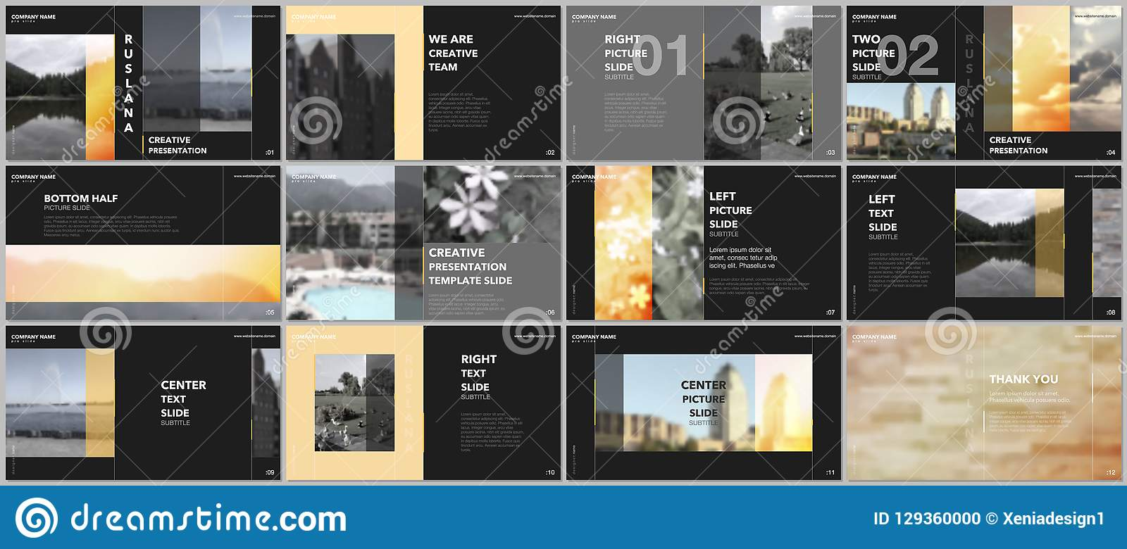 Travel Concept Presentations Design, Portfolio Vector