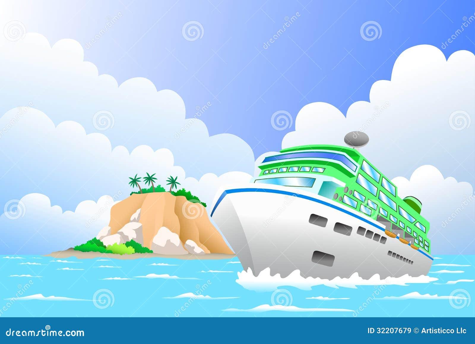 Cartoon Cruise Ship Of luxury cruise ship in