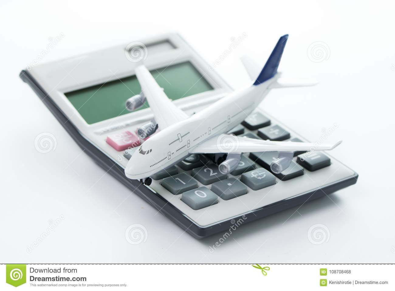 travel cost budget or expenses stock photo image of object