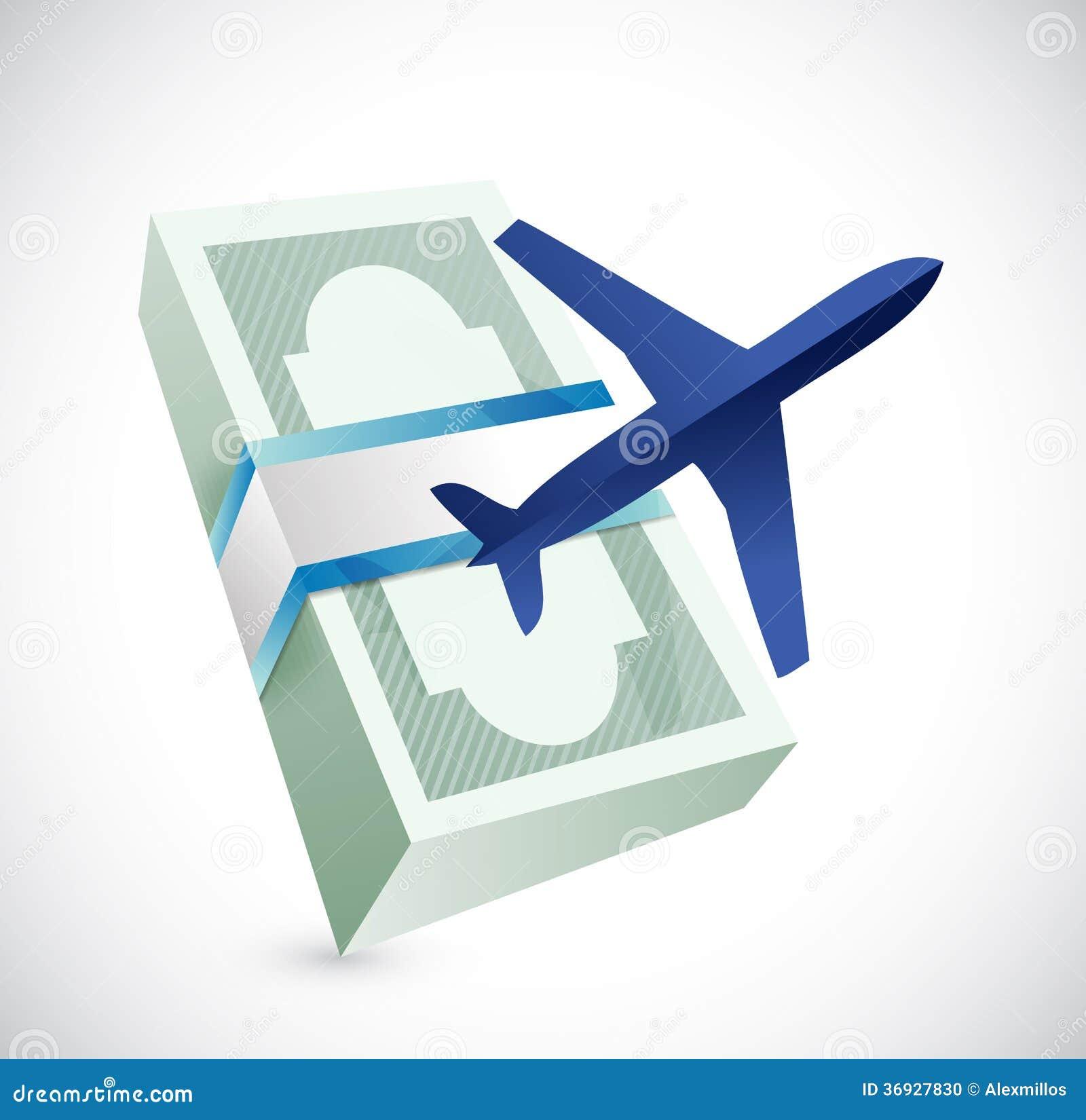 Travel Cost Illustration Design Stock Illustration