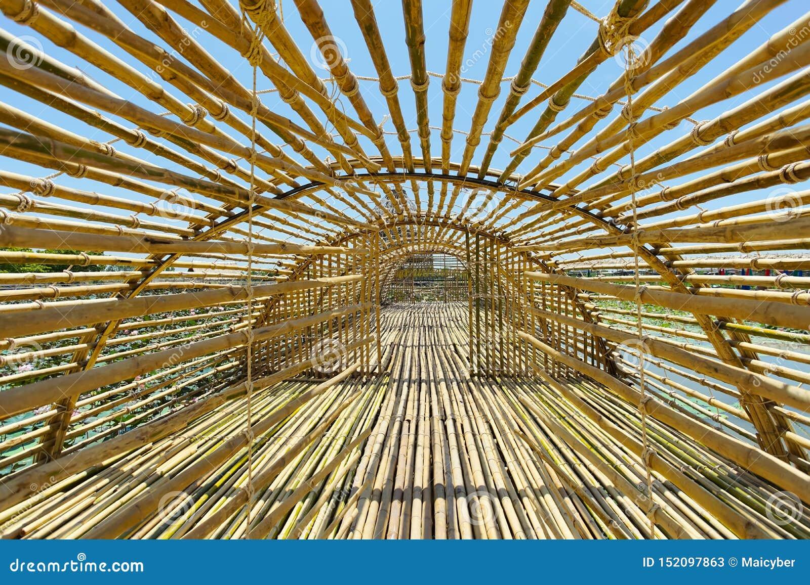 Travel Destination Bamboo Tunnel In Handcraft Baan Ton Tan