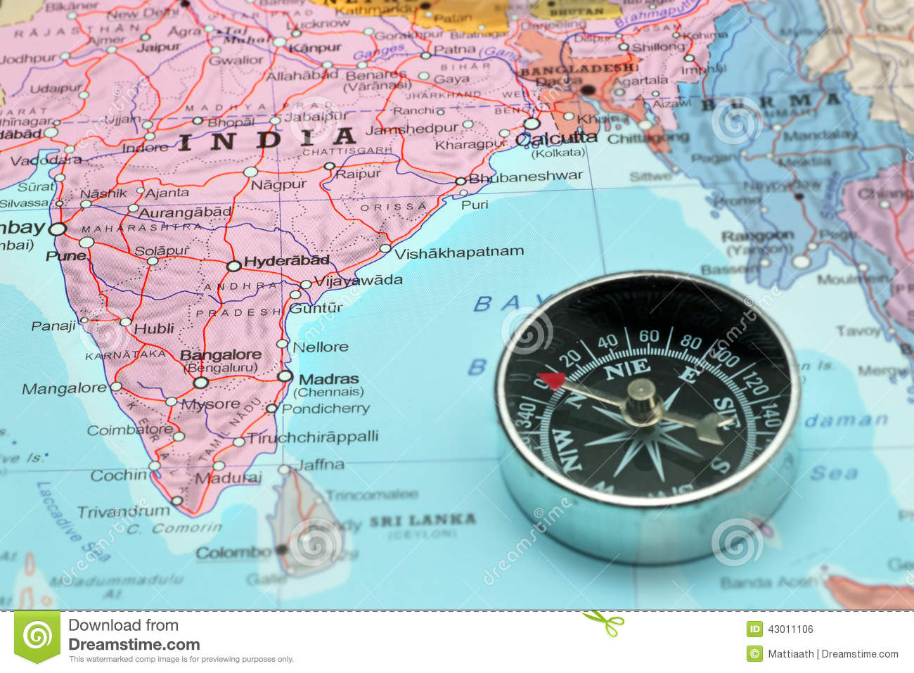 travel destination india map with pass stock photo image