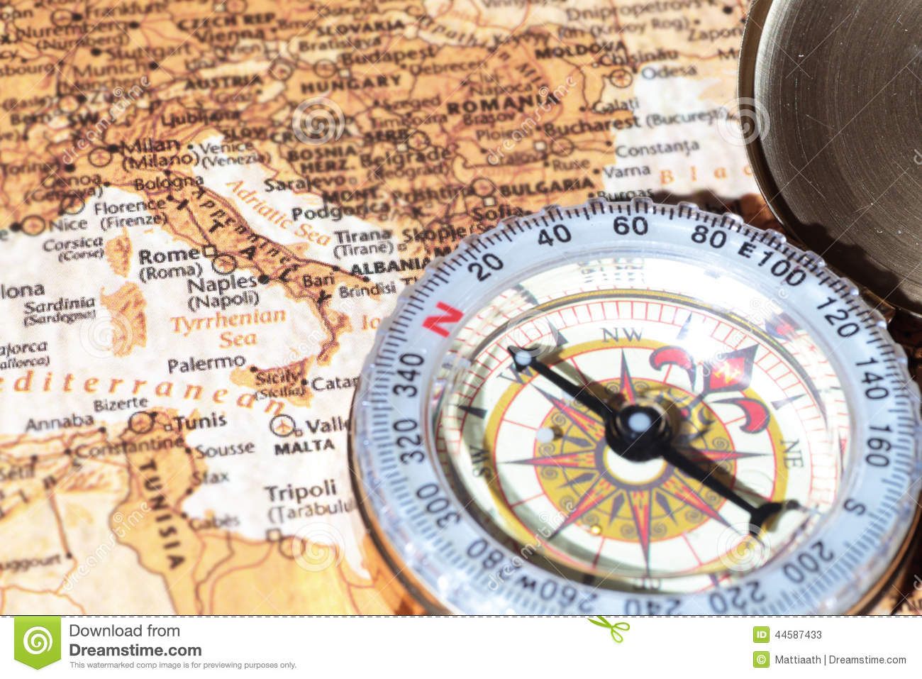 Old paris street map royalty free stock photo image 15885665 - Travel Destination Italy Ancient Map With Vintage Compass Stock Photos