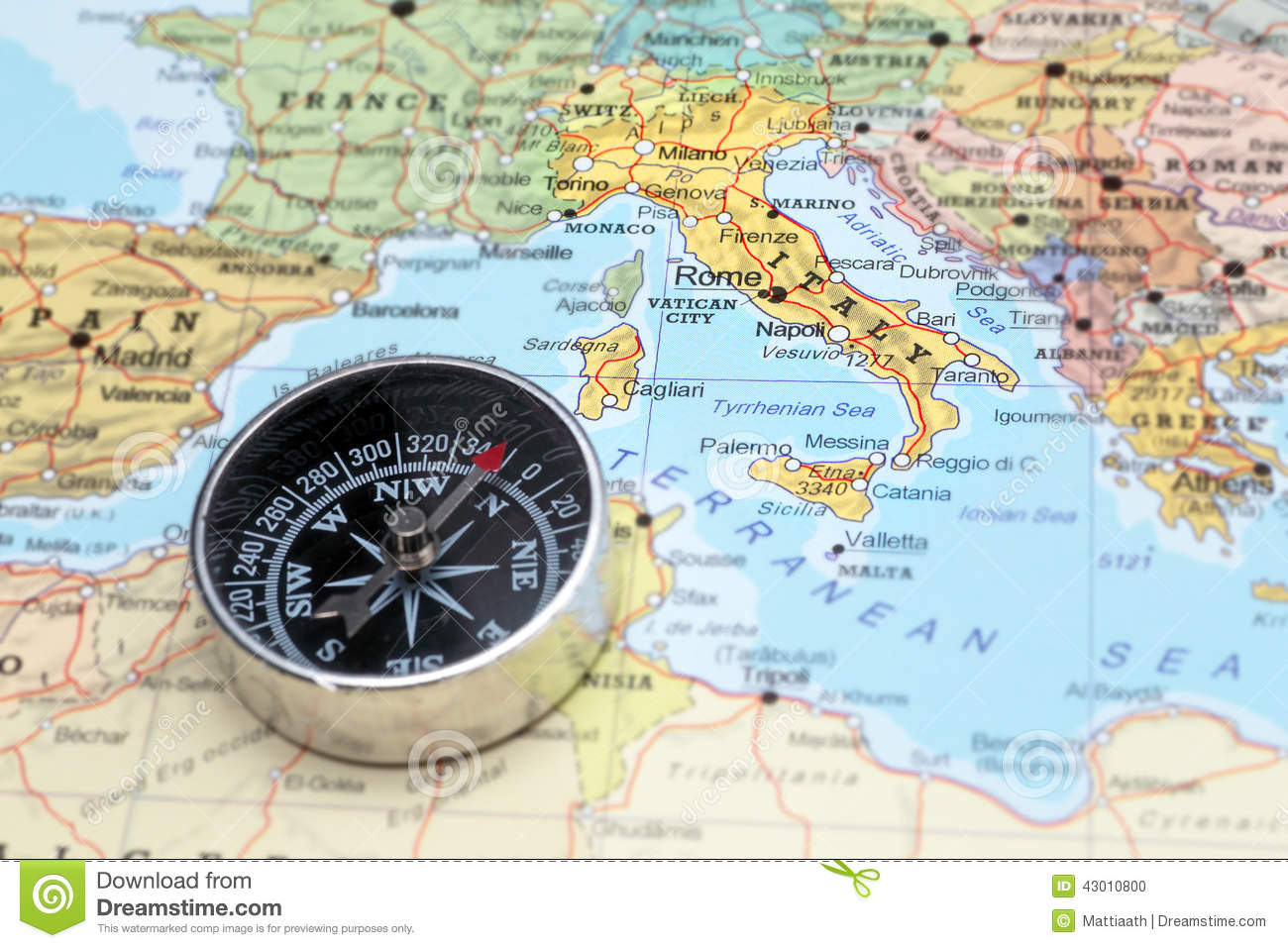 Download comp Travel Destination Italy Map With