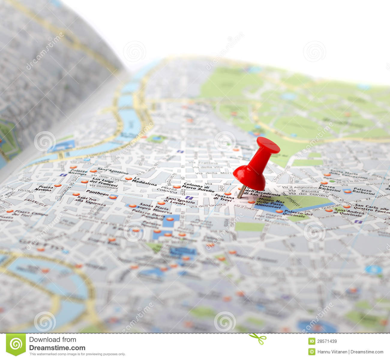 Travel Destination Map Push Pin Royalty Free Stock Images  Image