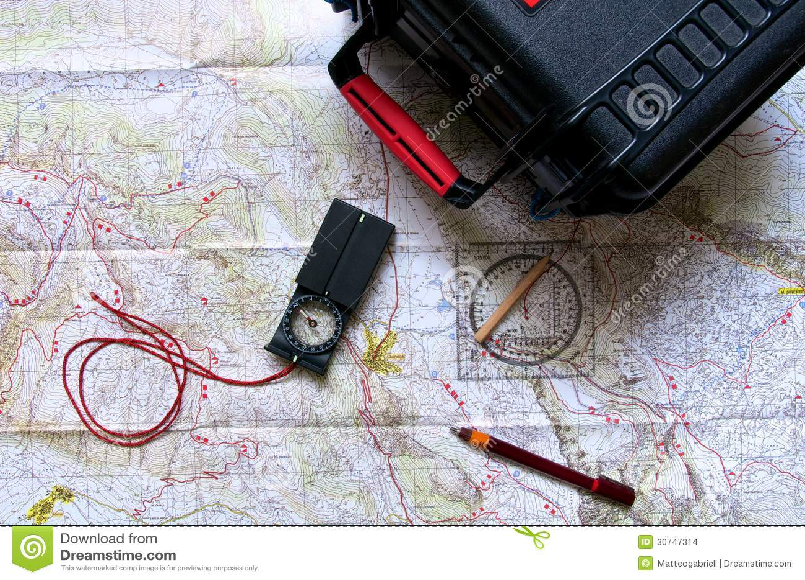 Travel equipment stock photo. Image of direction, nature - 30747314