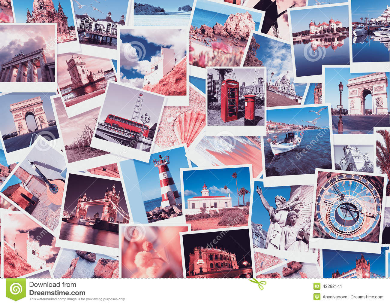Travel In Europe, Collage Stock Photo - Image: 42282141