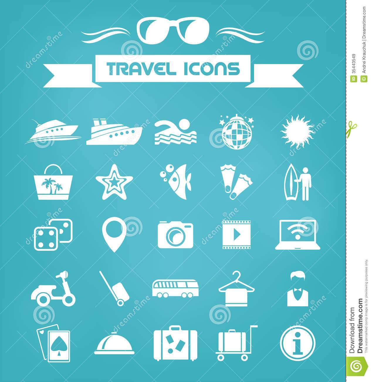travel flat icon set stock vector  image of foot  computer