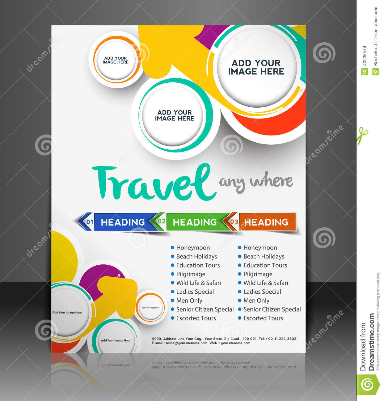 Travel Flyer Stock Vector Image 40036574