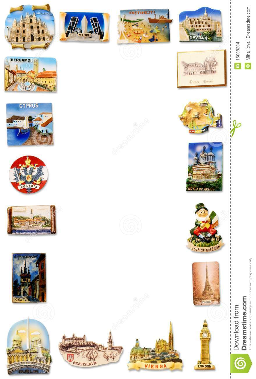 Travel Fridge Magnet Frame Stock Photo Image Of Ceramic