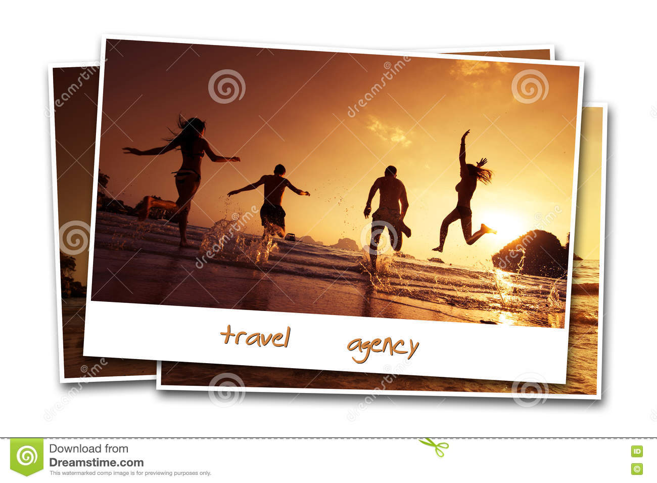 Travel friends beach photo concept sand backdrop water