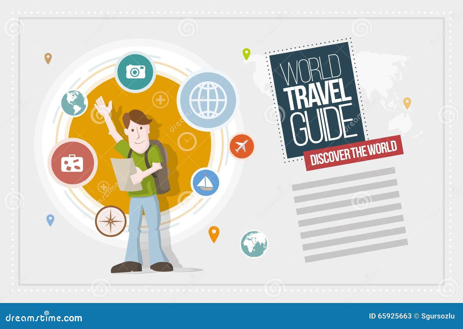 Travel Guide Design Stock Vector Illustration Of Flat