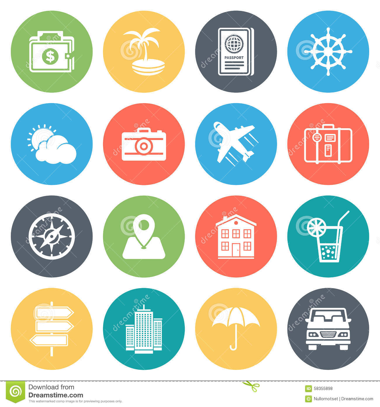Royalty Free Vector Download Travel And Holiday Minimal Icon