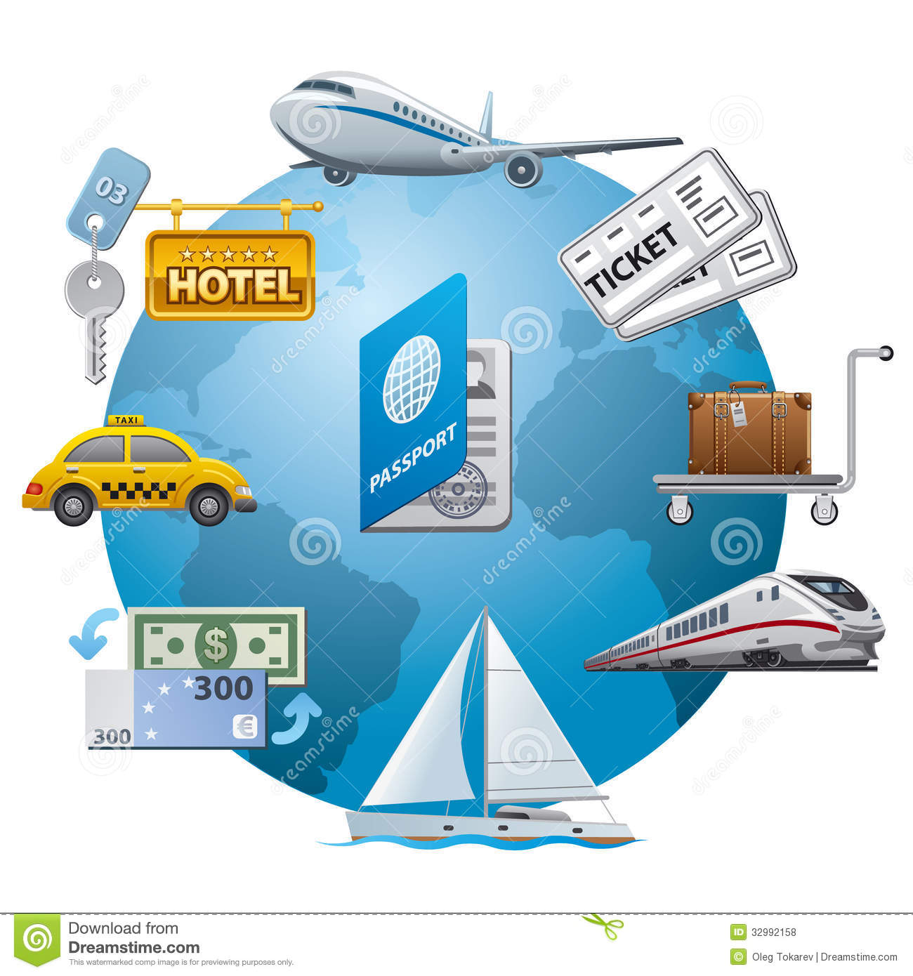 Travel Icon Concept Stock Illustration Image Of