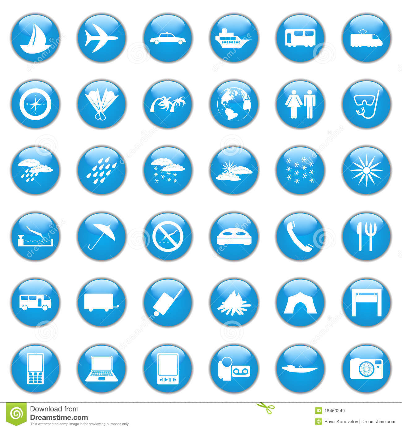 Travel Icon Set Royalty Free Stock Images Image 18463249