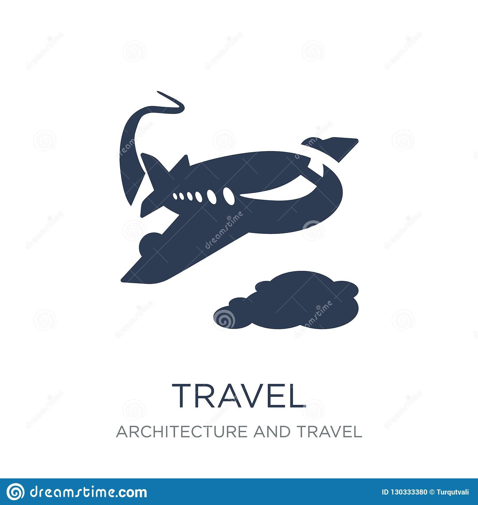 a3a7b88dc Travel icon. Trendy flat vector Travel icon on white background from  Architecture and Travel collection