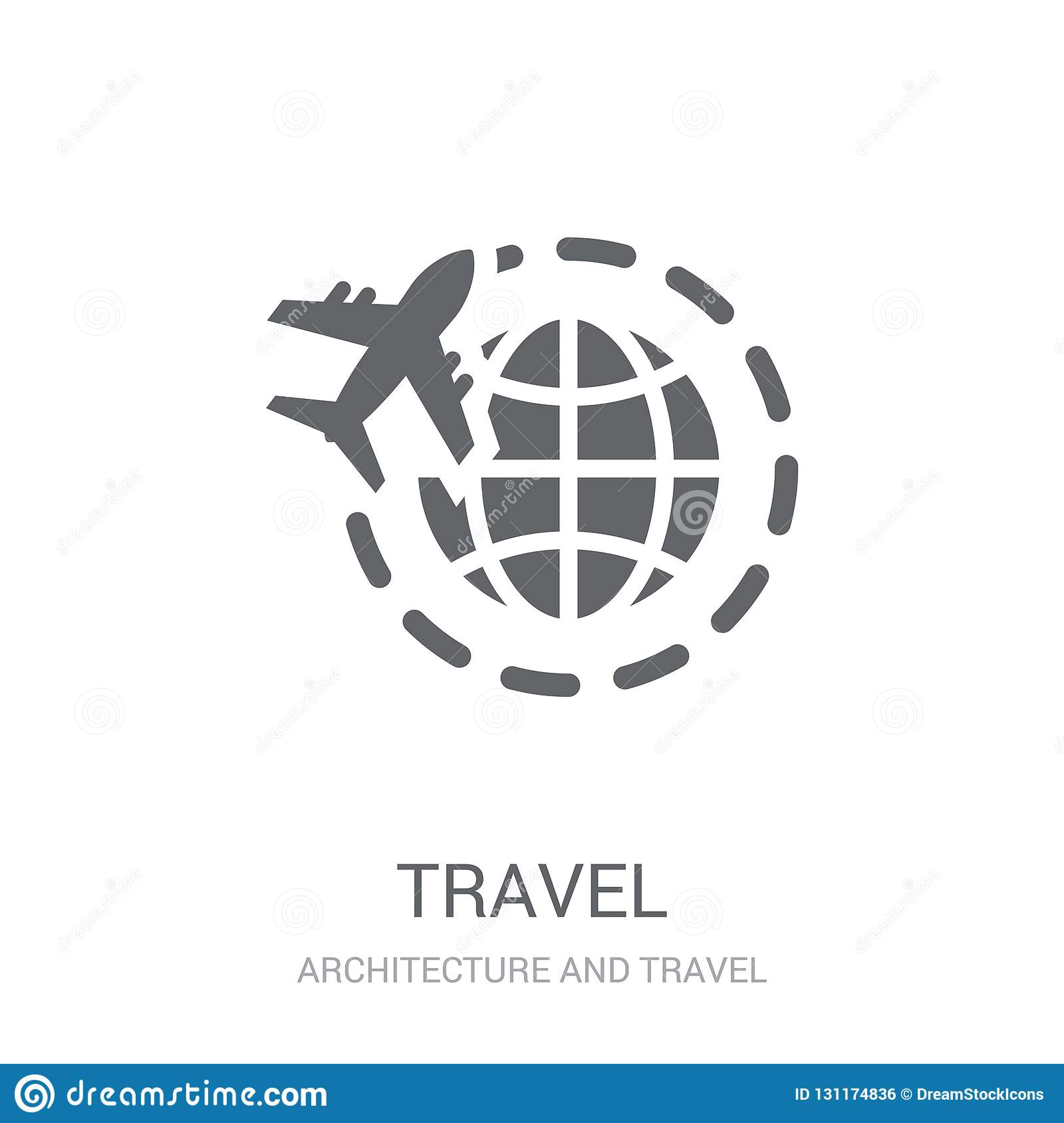 Travel icon. Trendy Travel logo concept on white background from