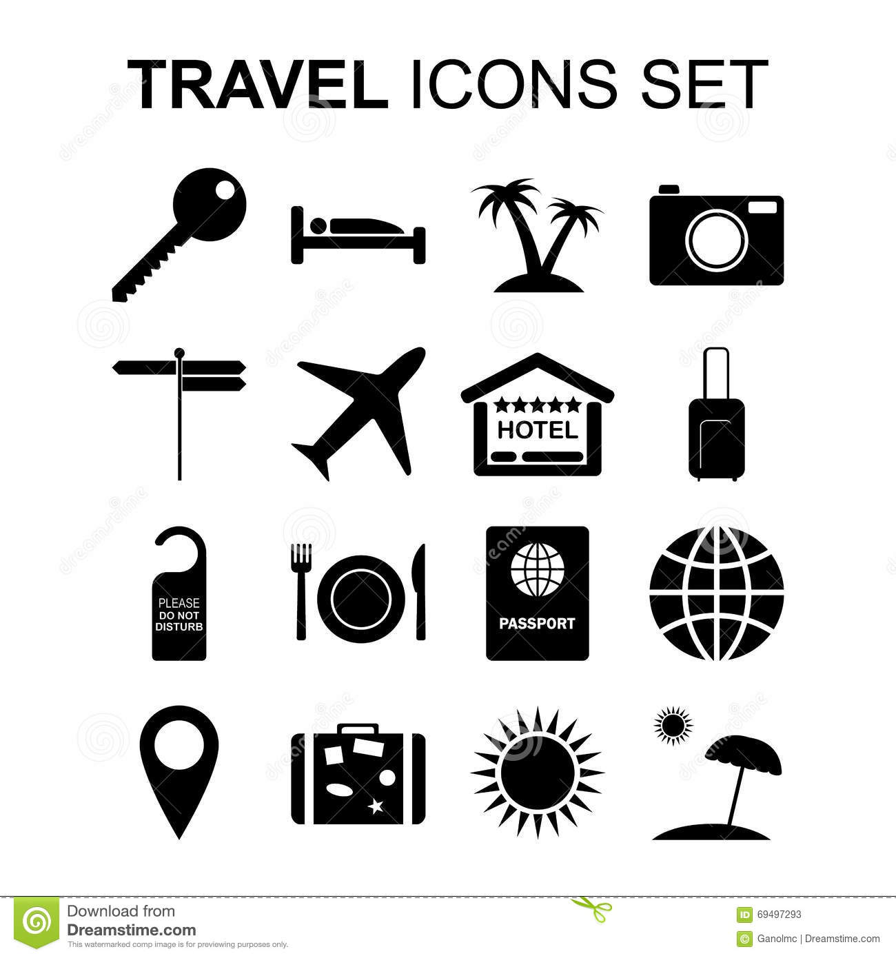 Travel and tourism signs and symbols vector illustration stock travel icons set and tourism symbols vector illustration stock photos buycottarizona Image collections