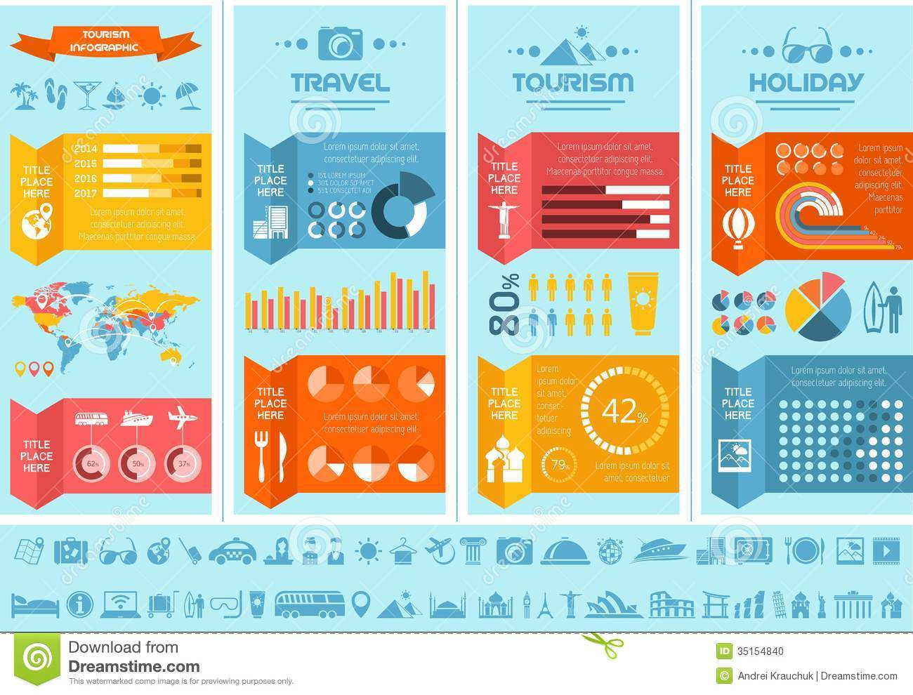 Travel Infographic Template. Stock Photo - Image: 35154840
