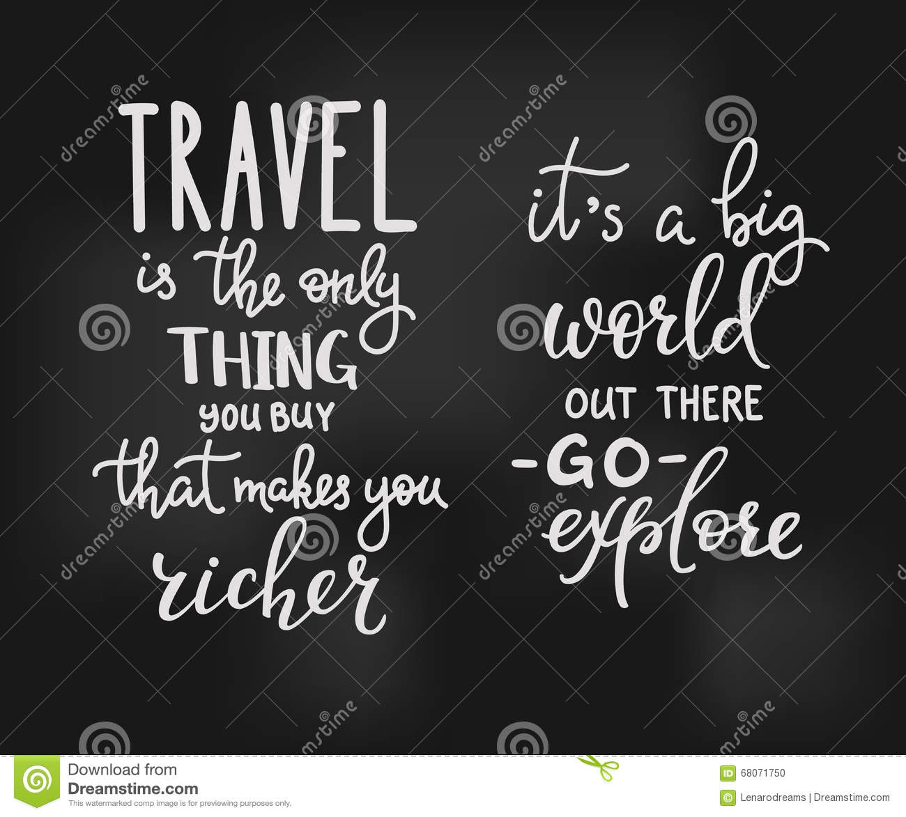 Inspiration Quotes Travel Inspiration Quotes Lettering Stock Illustration