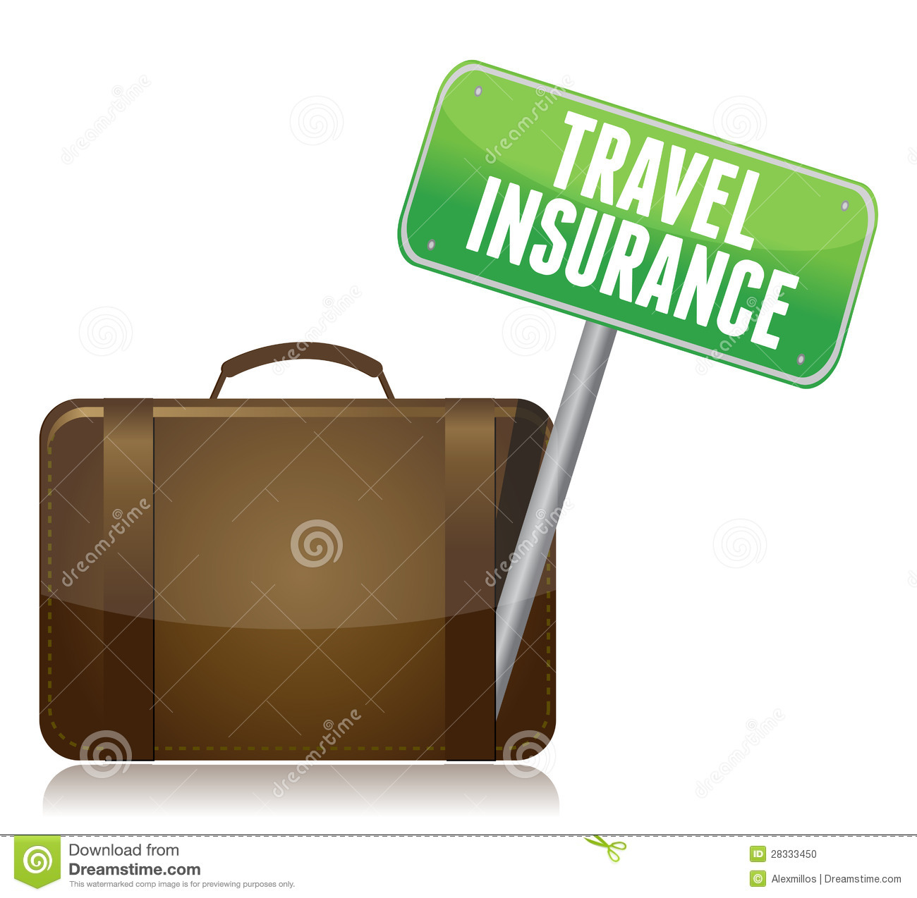 Travel Insurance concept isolated over a white background.