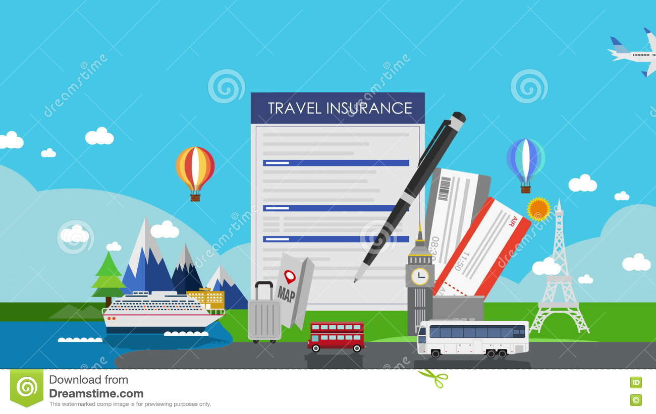 Travel Insurance For World Travel Tour Air Ticket Illustration Animation Included Alpha Stock Footage Video Of Animation Flight 73586926