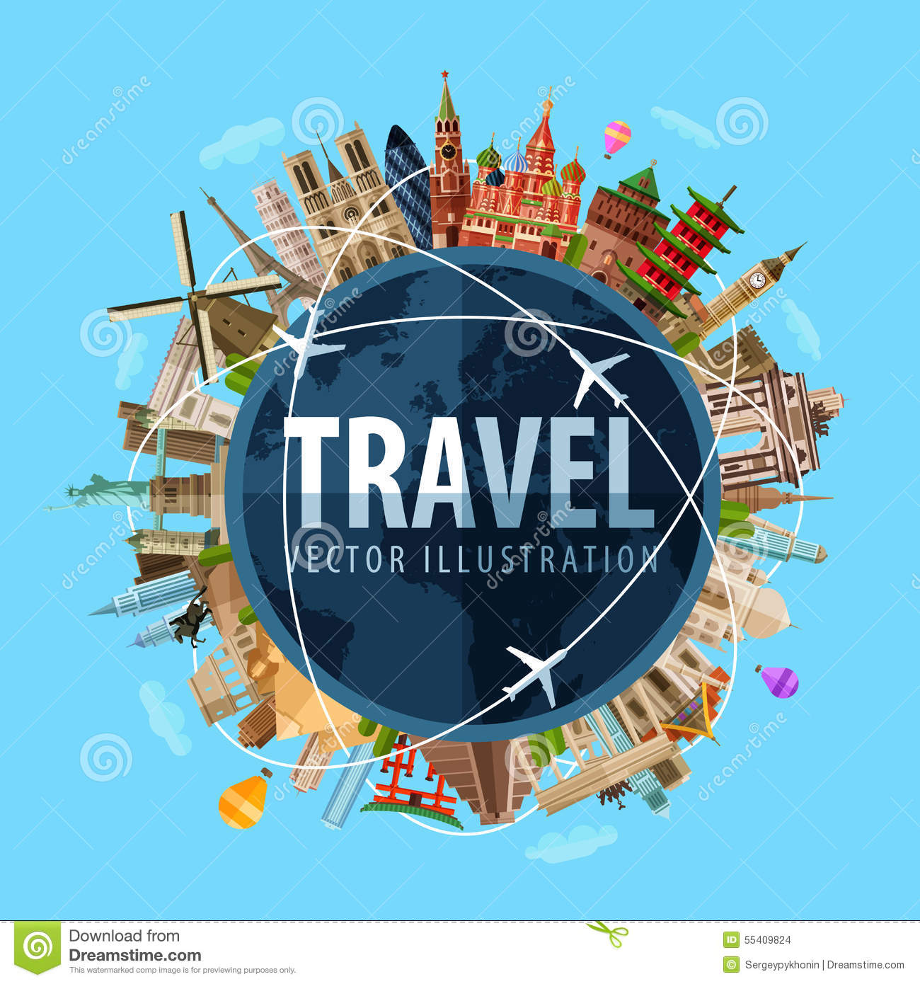 Travel, Journey Vector Logo Design Template. World Stock ...