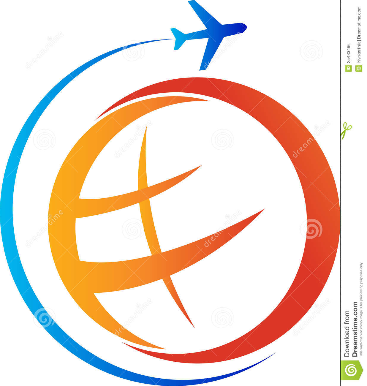 Travel Logo Royalty Free Stock Image - Image: 25433496