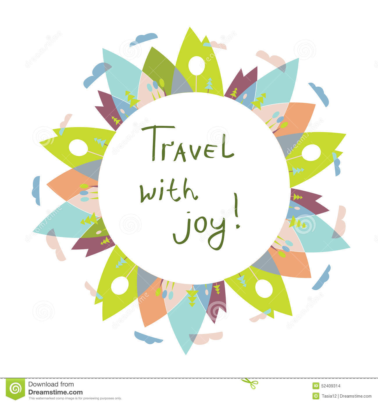 Travel Logo Or Frame For The Text With Nature Stock Vector ...