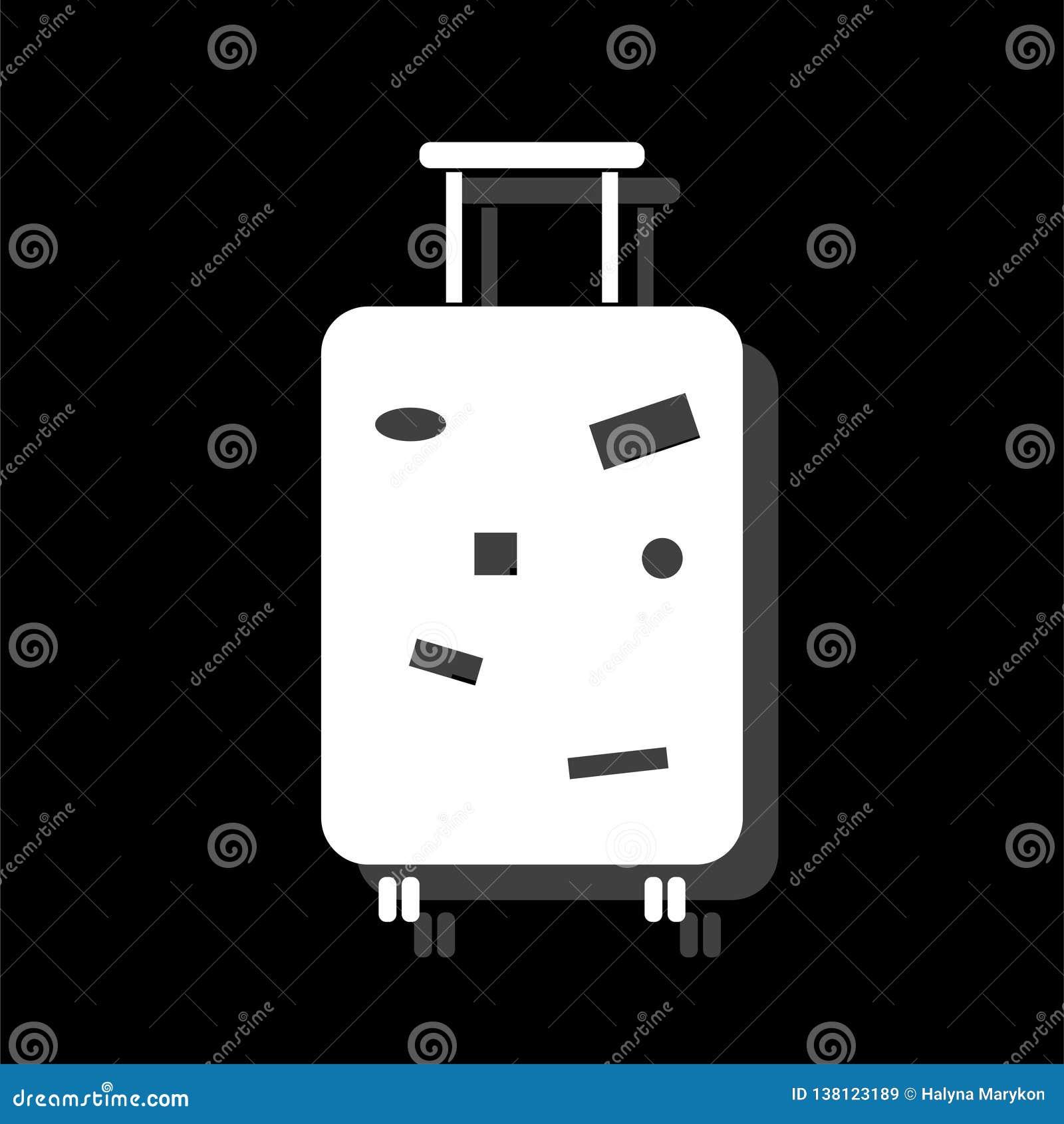Travel Luggage icon flat