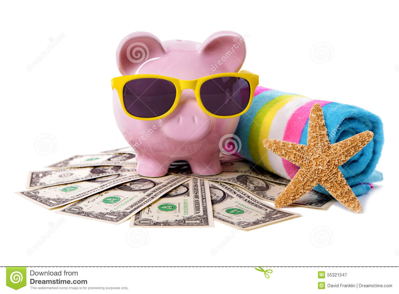 Travel Money Holiday Saving Currency Piggy Bank On