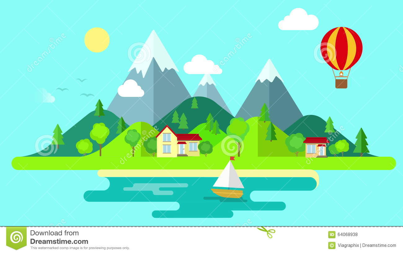 travel mountains island landscape and sailing looped animated background stock footage video of fresh motion 64068938