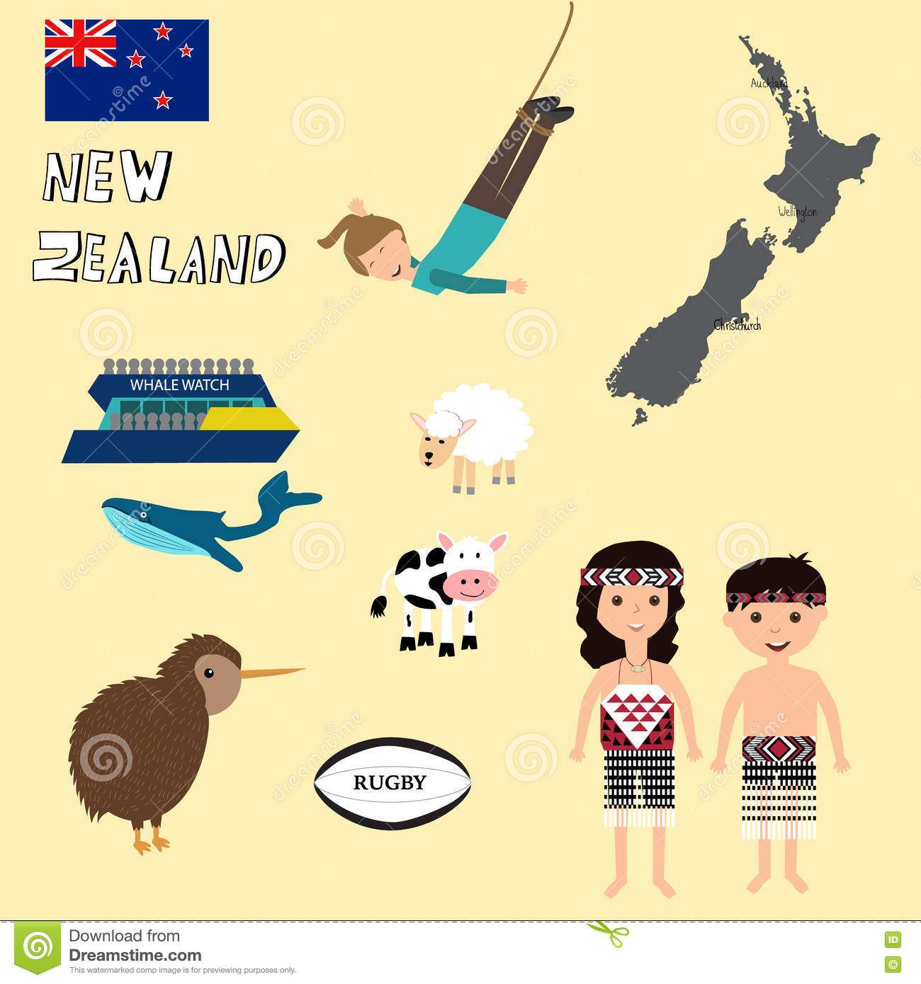 Travel New Zealand With Mapwhale Watchingbungy Jumping – New Zealand Travel Map