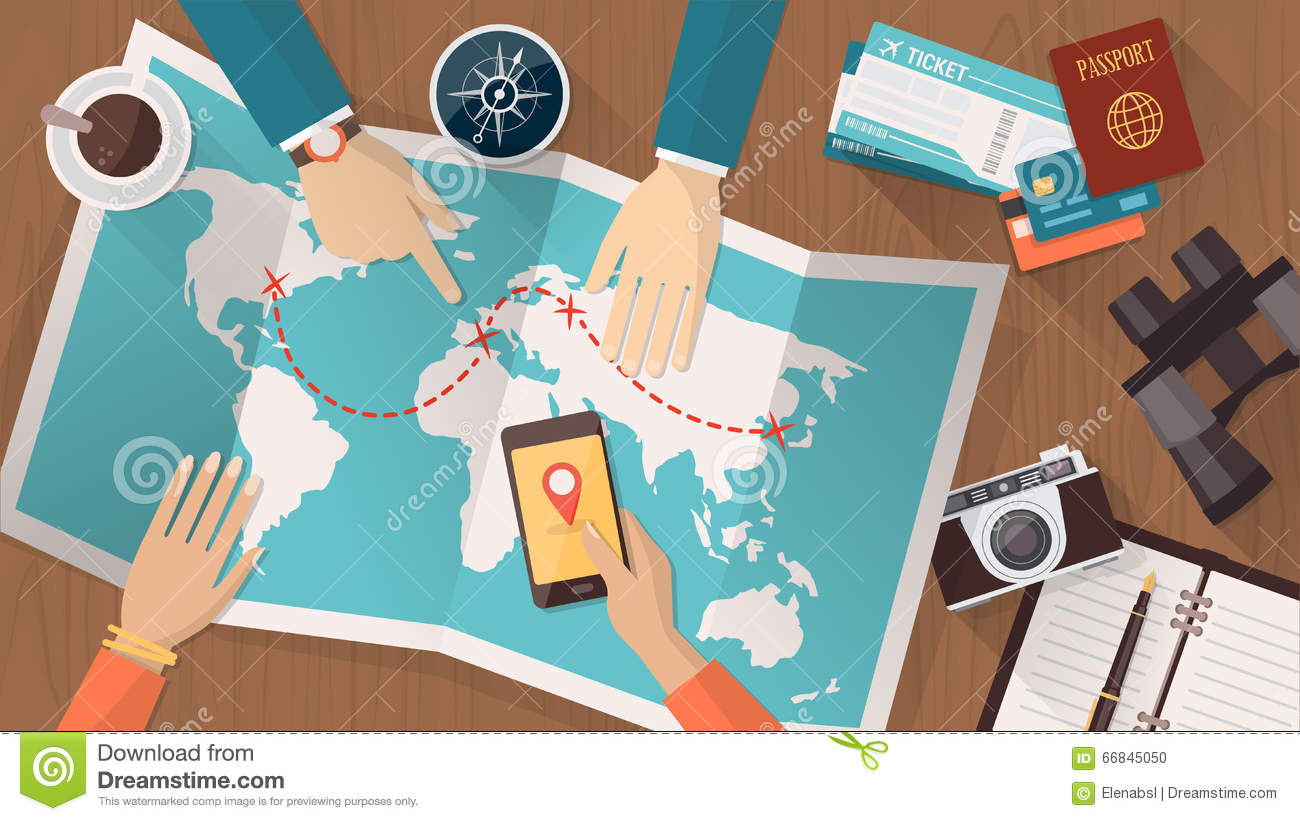 Travel Planning Vector Image 66845809 – Map For Travel Planning