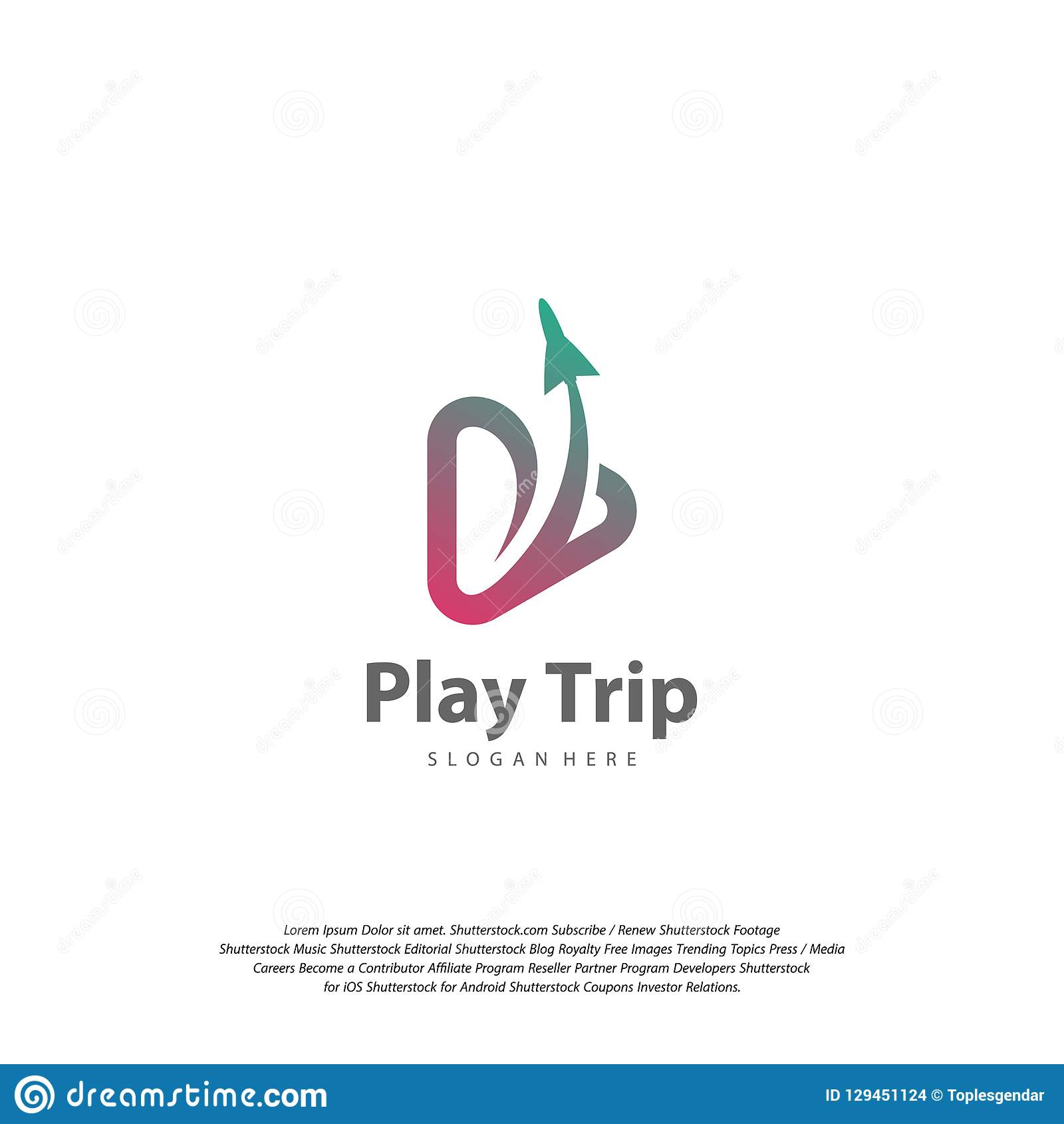 Travel Play Logo Design Vector Travel Logo Design Vector Template Stock Vector Illustration Of Education Agency 129451124
