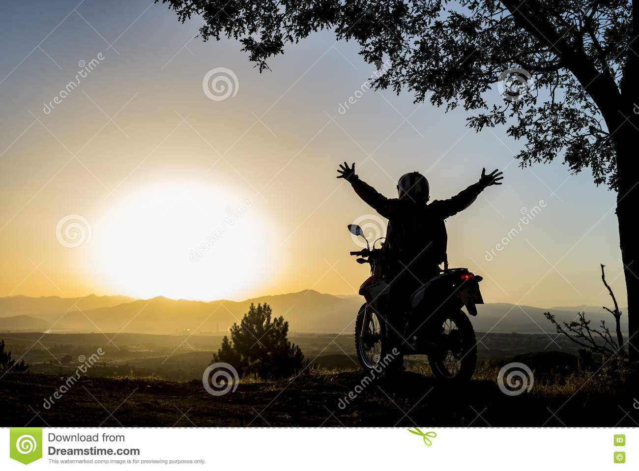 Travel And A Positive Day With Motorcycle Stock Photo ...