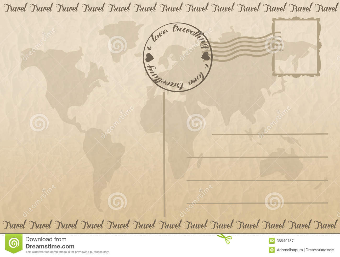travel postcard stock illustration illustration of
