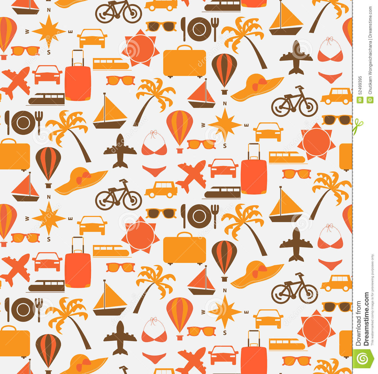 Travel Seamless Pattern Stock Vector Image Of Cruise