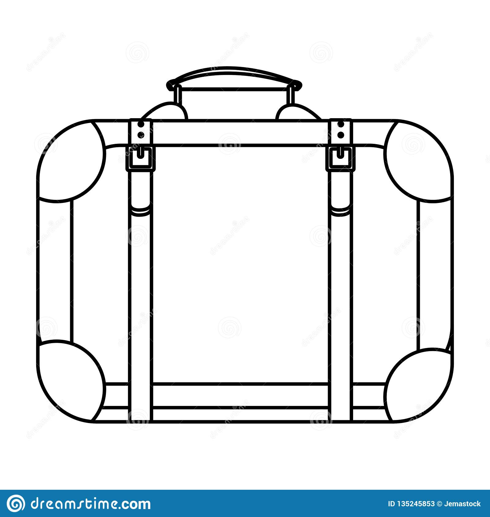 Travel suitcase icon