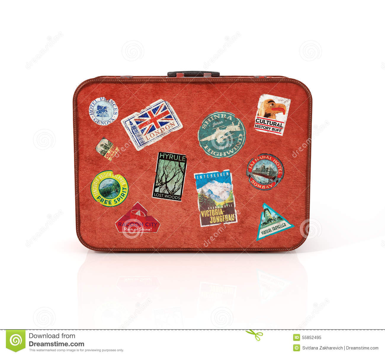 Travel Suitcase With Stickers Stock Image Image 55852495