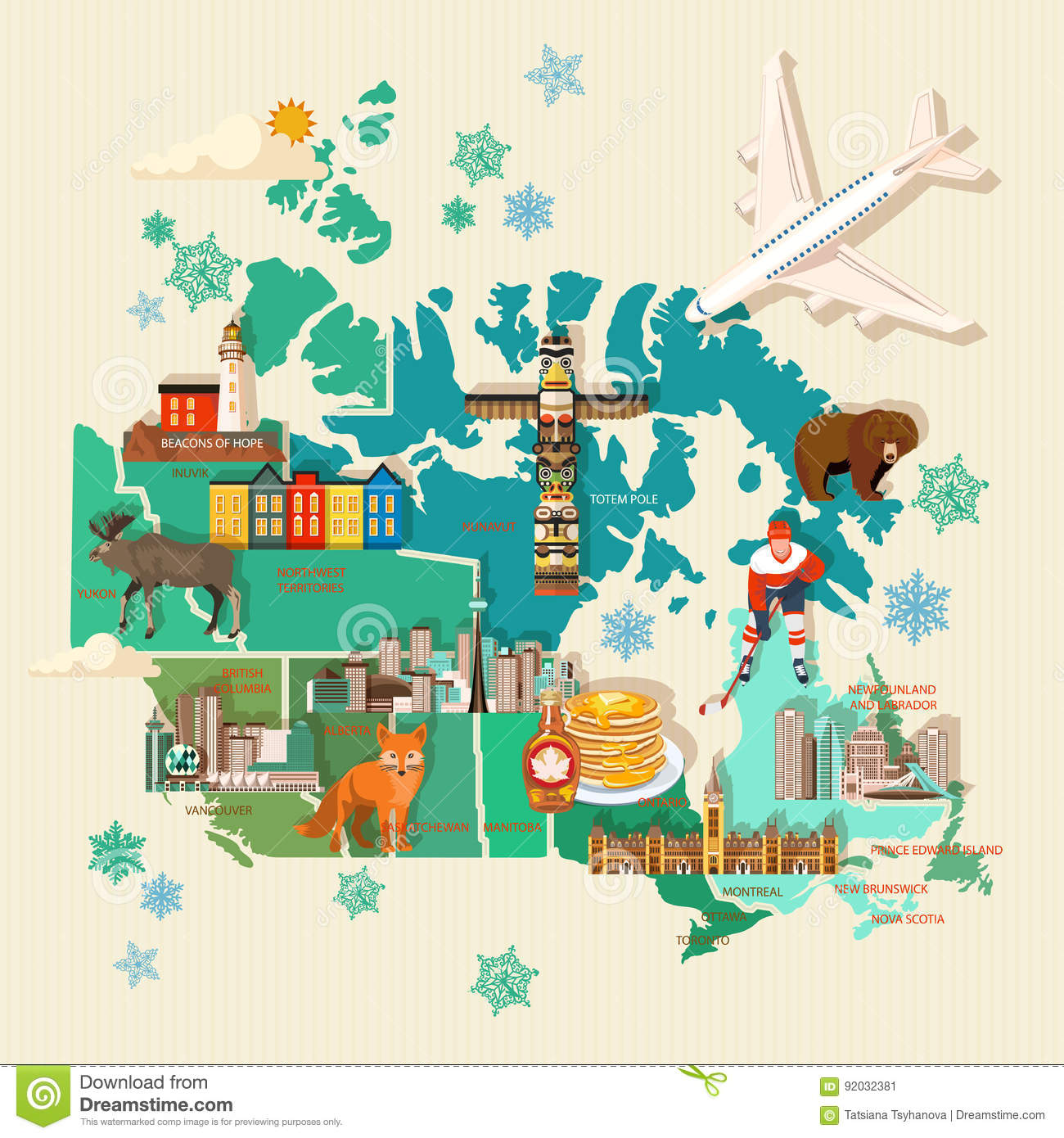 Canada Travel Map on