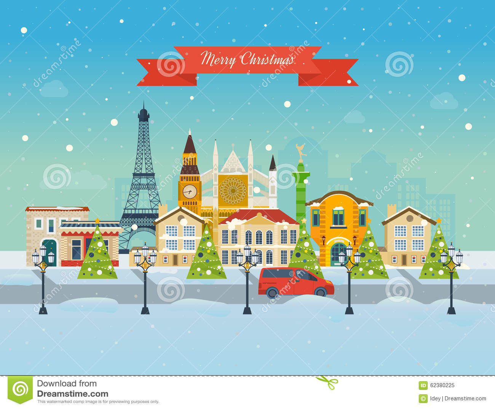 travel to europe for christmas  merry christmas stock