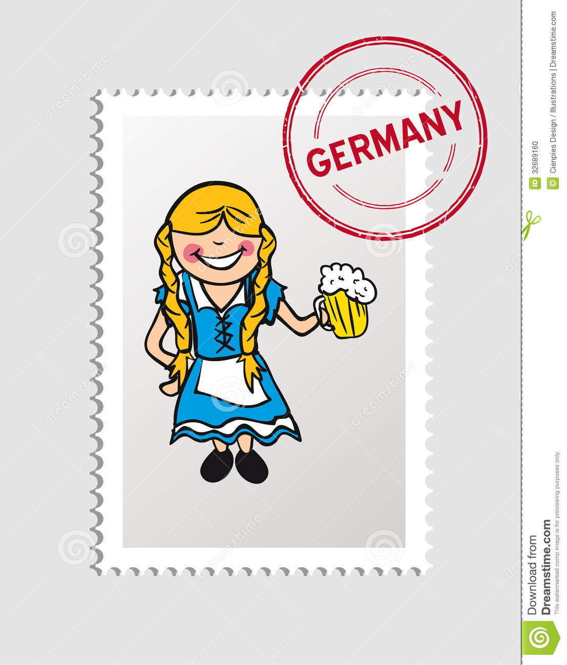I Want To Visit Germany In German: Travel To Germany Stock Photo