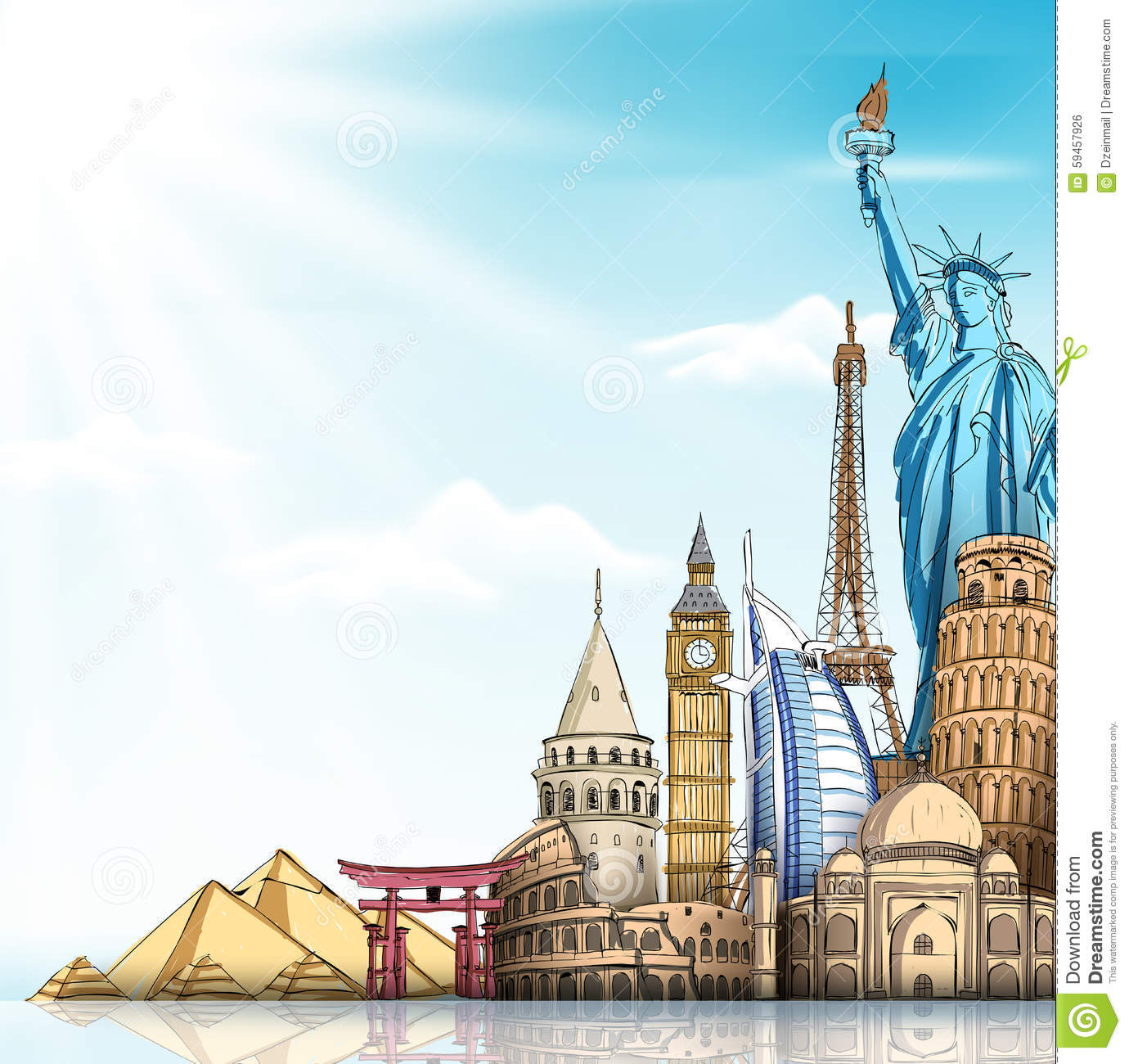 travel-tourism-background-famous-world-landmarks-d-realistic-sketch-drawing-elements-vector-illustration-59457926.jpg